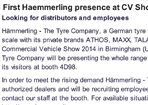Tyre Trade News - Commercial Vehicle Show Birmingham